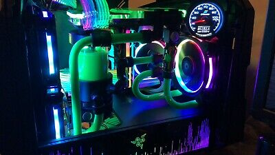 Antec Cube Razer Edition Mini-ITX Case Edition Green LED Gaming Chassis