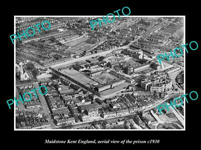 OLD LARGE HISTORIC PHOTO OF MAIDSTONE KENT ENGLAND, VIEW OF THE PRISON c1930