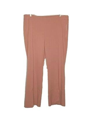 Roz & Ali Pant Pink Salmon Secret Agent Tummy Control Stretch Trouser 18W Tall
