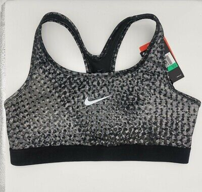 Nike Girls Pro Classic Sports Bra Extra Large XL Black White Bubble AA5057-043