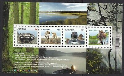 Canada 2012 # 2504 -Baby Wildlife' Definitive  Souvenir  Sheet Of 4 Stamps Mnh