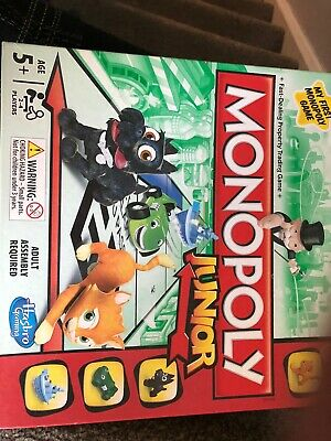 Monopoly Junior Kids Board game used But Excellent Condition