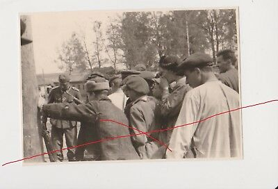 Old USSR Russia photo original of WWII Civilians take over founded arsenal. СССР