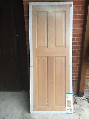 Deanta  Internal Solid Core Door (Brand New) - Beautiful Oak, 4 Panels