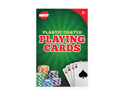 Playing Cards Plastic Coated Deck Poker Party Games Night Kids Children Fun Snap