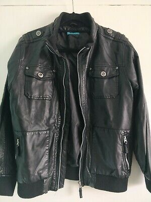 Marks & Spencer M&S Limited Collection Faux Leather Jacket Coat Boys 13-14 Years