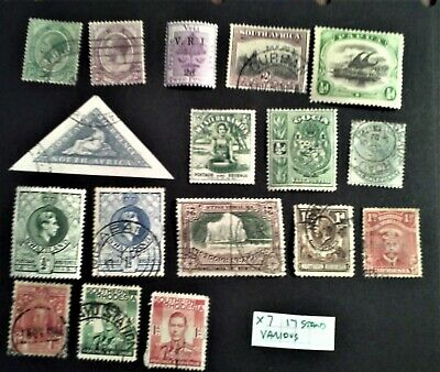 Swaziland, Toga, Natal, Papua, Union Sth Africa Rhodesia, 17 stamps ref X7