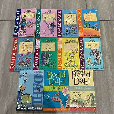 Roald Dahl Collection - 11 x Books - Twits, BFG, Charlie Chocolate Factory