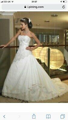 Maggie Sottero Wedding Dress Suzanne Vidal Diamond White Size 12