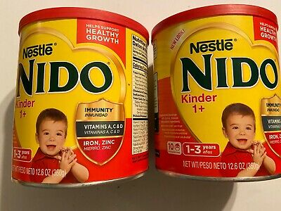 Nido Kinder 1+ by Nestle 360g 12oz 12.6 Oz 2 Cans 1-3 Years Powder Small Cans