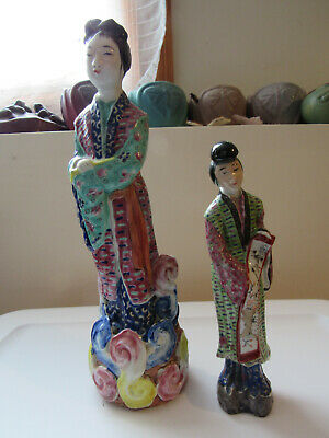 2 - Antique Chinese Famille Rose Figurines