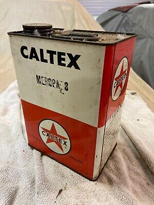 Caltex 1 Gallon Oil Tin