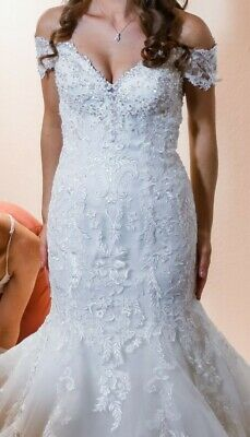 David Tutera For Mon Cheri Wedding Dress Size 6 Aura