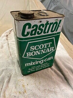 CASTROL 2 Stroke Mower Fuel Tin/ Can Scott Bonner