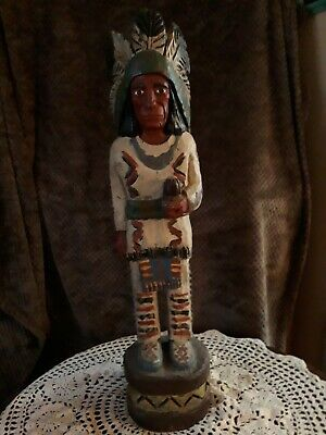 Frank Gallagher antique cigar indian carving 30 inches tall.