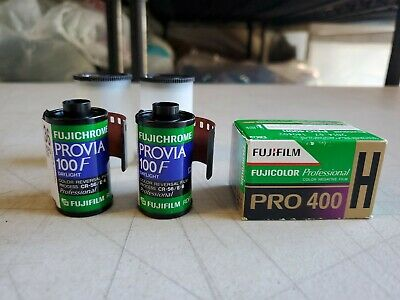 Three Rolls Total FUJI PROVIA 100F 135 36 Color Reversal Film&Pro 400 H EXPIRED