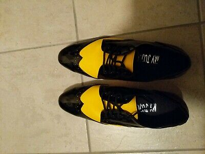 Mens dance shoes Rock n Roll, black and yellow Size 46 (fit size 9/10)