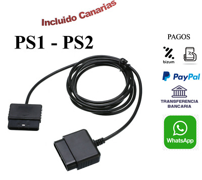 Cables Alargadores para Mando Sony PlayStation 1 y 2 PS1 / PS2 / PSX