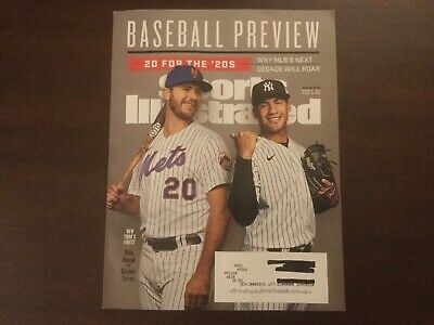 Sports Illustrated Magazine Spring 2020 Mlb's Preview 2020 New York's Fiinest