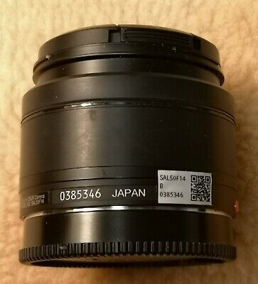 Sony SAL 50mm f/1.4 AF Camera Lens Sony A Mount From Japan