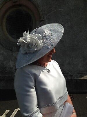 Hand Made Mother Of The Bride/groom Hat Plus Matching Anna Roman Bag And Shoes