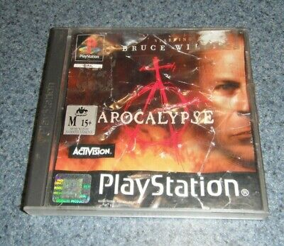 Apocalypse Classic PS1 Game Bruce Willis (Sony PlayStation 1, 1998)