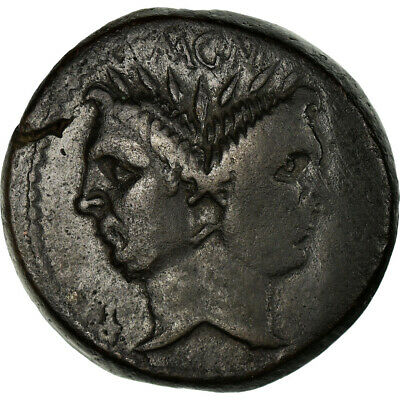 [#658942] Coin, Sextus Pompey, As, Uncertain Mint, VF, Bronze, Crawford:479.1