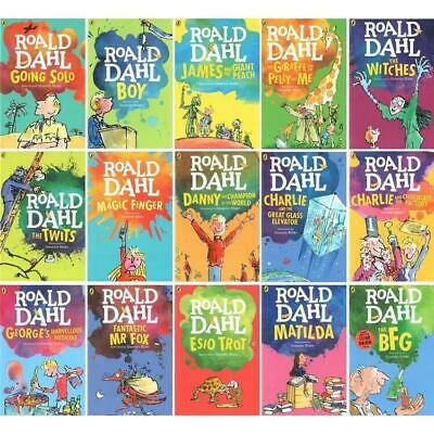 Roald Dahl Collection 15 Books Boxed Set BFG Charlie and the chocolate Factory
