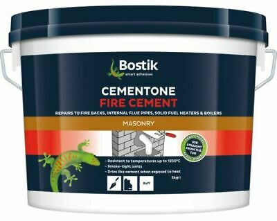 Bostik Cementone Fire Cement Heat Resistant 1250°C Buff Stoves Cement