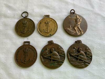 COLLECTABLE VINTAGE 6pc MEDALS MEDALLIONS SPORT / CLUB GROUP BADGES