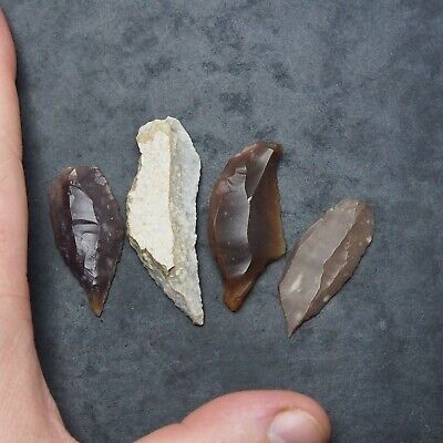 4x Prehistory Lithic Tools Weapons Darts Various Neolithic 6,400 Years Old