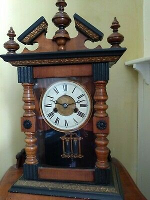 Junghans Antique Chiming Mantle Clock With Key