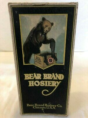 Vintage Bear Brand Hosiery Empty Box with Size Chart - Oxford - Vermont Shorts