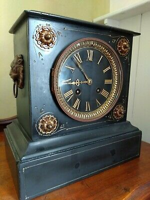 Slate Chiming Mantle Clock With Key