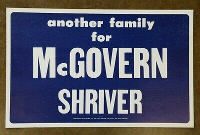 Lot of 10 Vintage 1972 McGovern- Shriver Campaign Signs