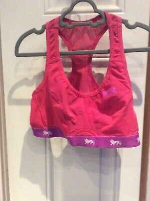 Girls Pink Lonsdale Sports Bra Size 32D
