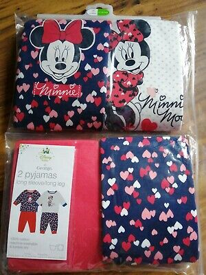 Two Pairs Of Disney Baby At George Girls Pyjamas Age 12-18 Months