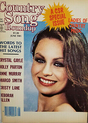 Country Song Roundup Vtg June 1981 Music Magazine Dolly Parton Crystal Gayle VG