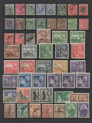 British Commonwealth, nice collection of Malta stamps on Stockleaves in Binder.