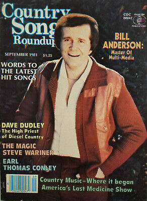 Country Song Roundup Sept 1981 Vtg Music Magazine Bill Anderson No Label EX