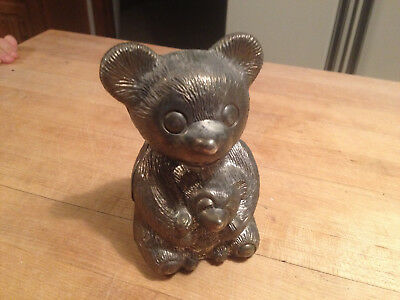 Vintage Bear with Baby Bear Coin Bank
