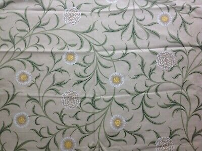 """WILLIAM MORRIS CURTAIN FABRIC """"Scroll"""" 83CM LODDEN/THYME ARCHIVE PRINTS"""