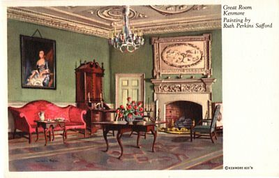 Great Room, Kenmore Home, Art, by Ruth Perkins Safford Postcard