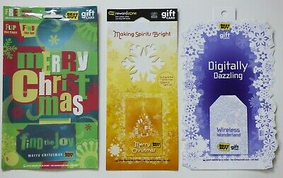 Best Buy Gift Card LOT of 3 - SPECIAL Christmas w/ Light-up Tree 2009 - No Value