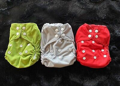 Lot Of 3 Thirsties Natural All In One-One Size Diapers NAIO OS