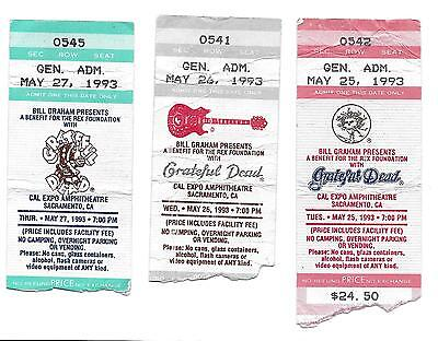 Grateful Dead Ticket Stubs Cal Expo 1993 Run Mail Order