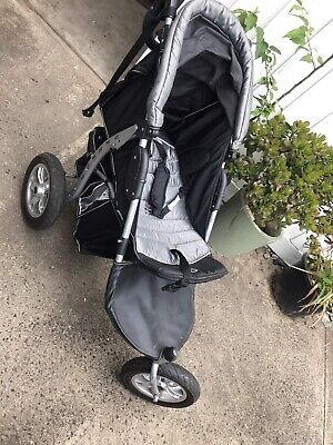 Black Everest three wheel pram
