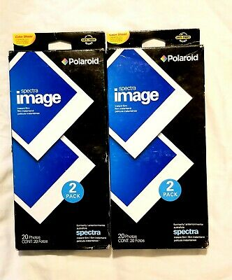 Lot of (2) Polaroid Spectra Image Film 2-Packs **40 Photos Total** Expired 2008