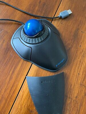 Kensington Orbit Trackball Mouse - Black -with Scroll Ring andRemovable wrist