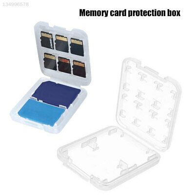 Memory Card Case SD Card Box MINI Office SDHC Pocket Storing Home Transparent